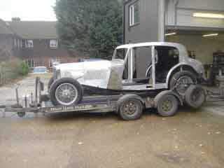 Alvis 1936 Restoration - off for painting