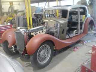 Alvis 1936 Restoration - First offering up of the wings
