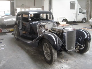Alvis 1936 Restoration - Back from painting