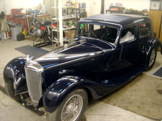 Alvis 1936 Restoration - Just back from the painters